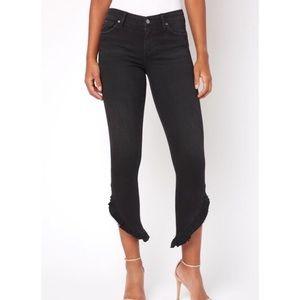 Joe's Jeans Icon Skinny Ruffle Hem Crop Jeans